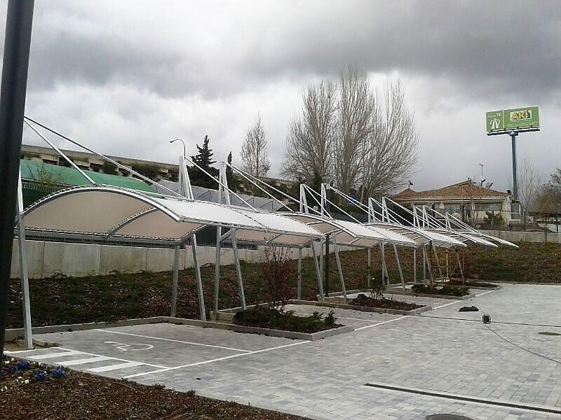Cubiertas textiles para aparcamientos - Oficinas bosch madrid ...